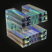 Optiska glaskulpturer 3d model