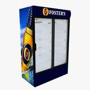 포스터 냉장고 미닫이 문 3d model