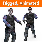 Анимация персонажа зомби 3d model