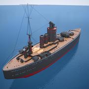 暗い戦いの船-低ポリ3Dモデル-HMSネルソンに触発 3d model