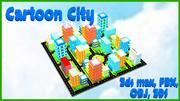 Cartoon-Stadt 3d model