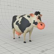 Мультипликационная корова 3d model