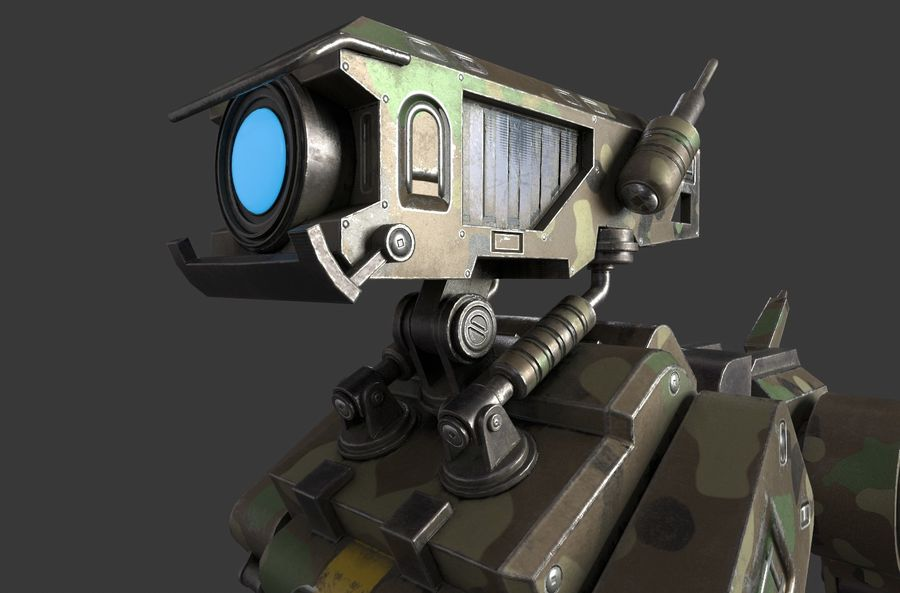 Mech Dog royalty-free 3d model - Preview no. 7
