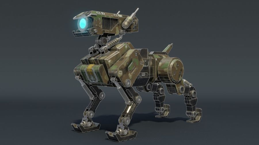 Mech Dog royalty-free 3d model - Preview no. 10