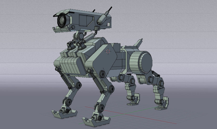 Mech Dog royalty-free 3d model - Preview no. 11