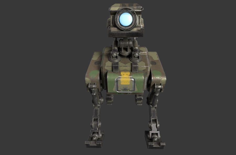 Mech Dog royalty-free 3d model - Preview no. 3