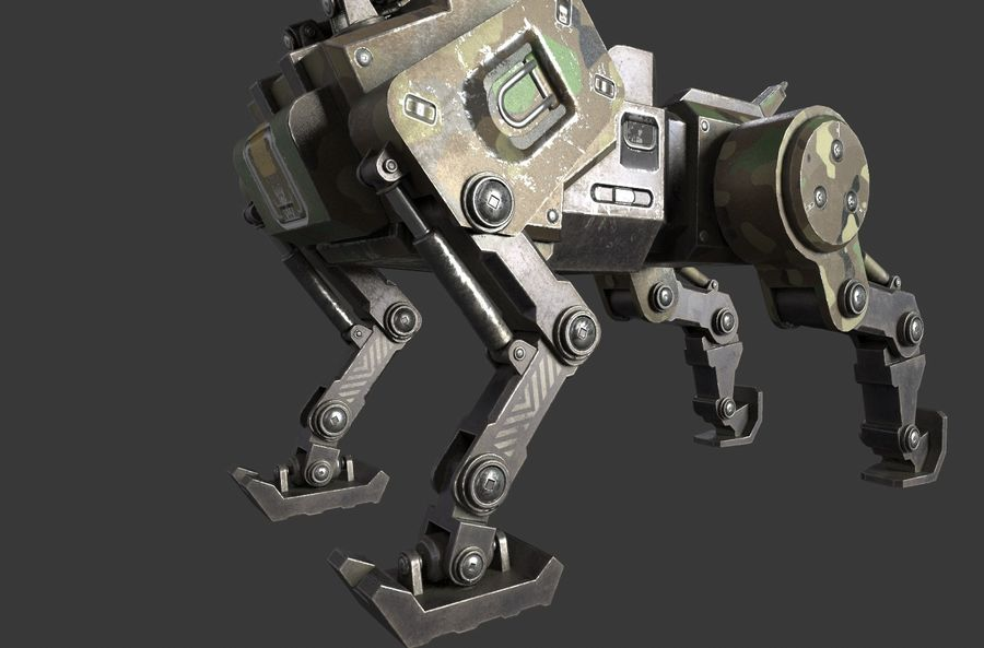 Mech Dog royalty-free 3d model - Preview no. 8