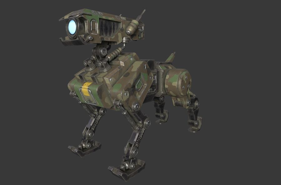 Mech Dog royalty-free 3d model - Preview no. 2