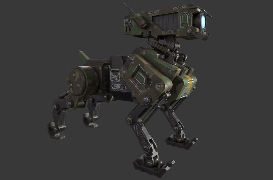 Mech Dog royalty-free 3d model - Preview no. 4