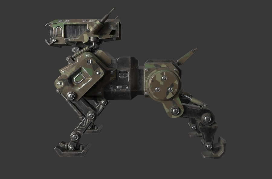Mech Dog royalty-free 3d model - Preview no. 1