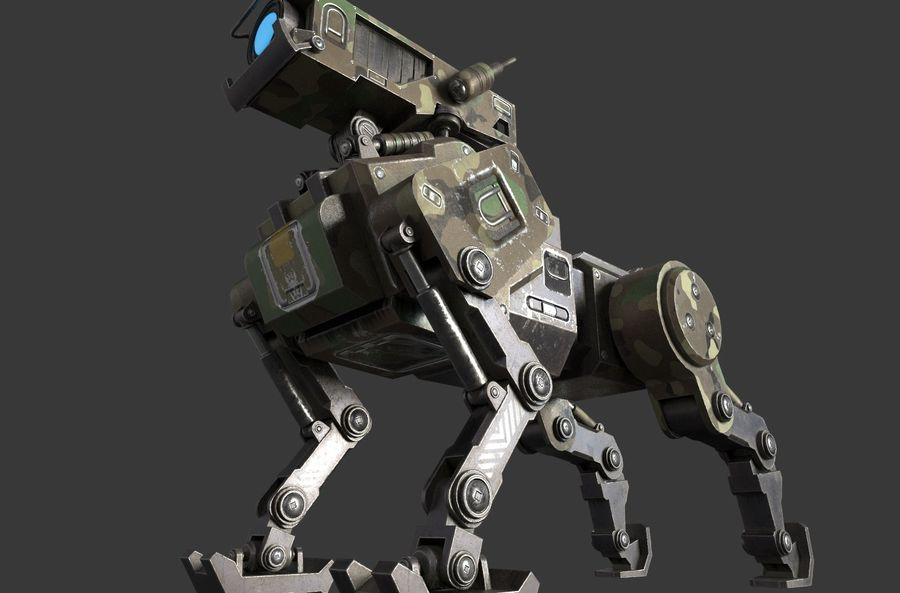 Mech Dog royalty-free 3d model - Preview no. 6