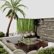 Współczesne patio 3d model