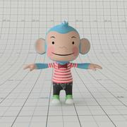 Мультфильм обезьяна 3d model