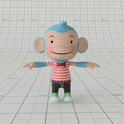Cartoon Monkey Rigged 3d model