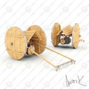 Maskingevär 3d model