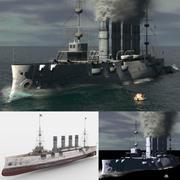 Steam Ship Düşük Poli 3d model