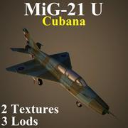 MIG21U CUBa 3d model