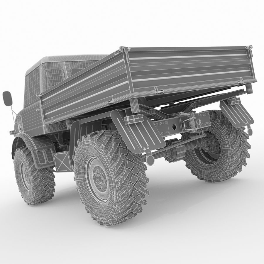Unimog royalty-free 3d model - Preview no. 19