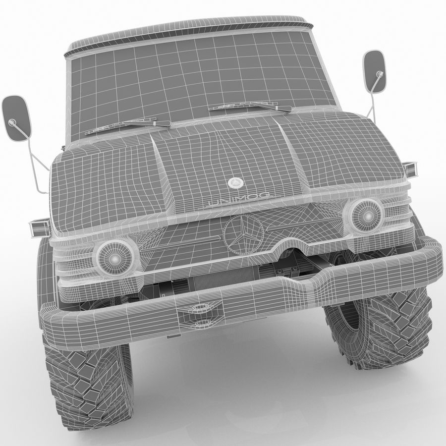 Unimog royalty-free 3d model - Preview no. 24