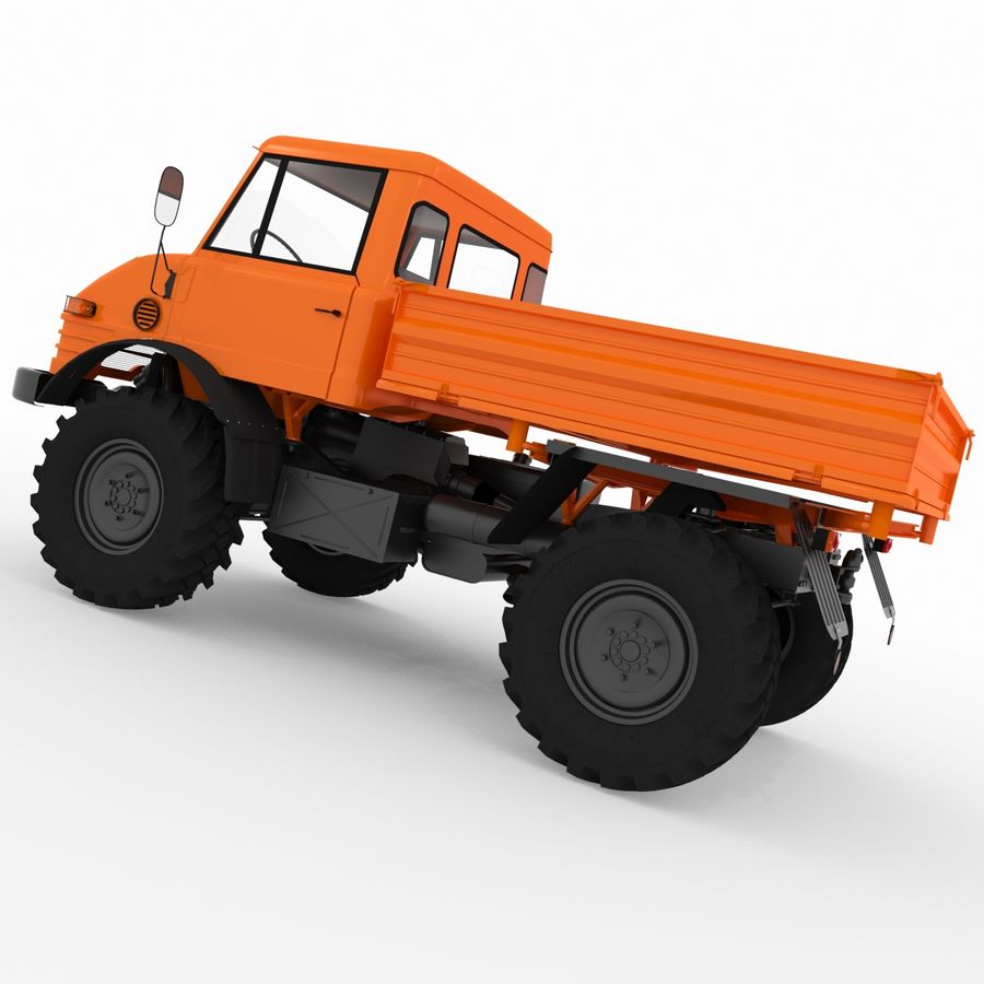 Unimog royalty-free 3d model - Preview no. 3