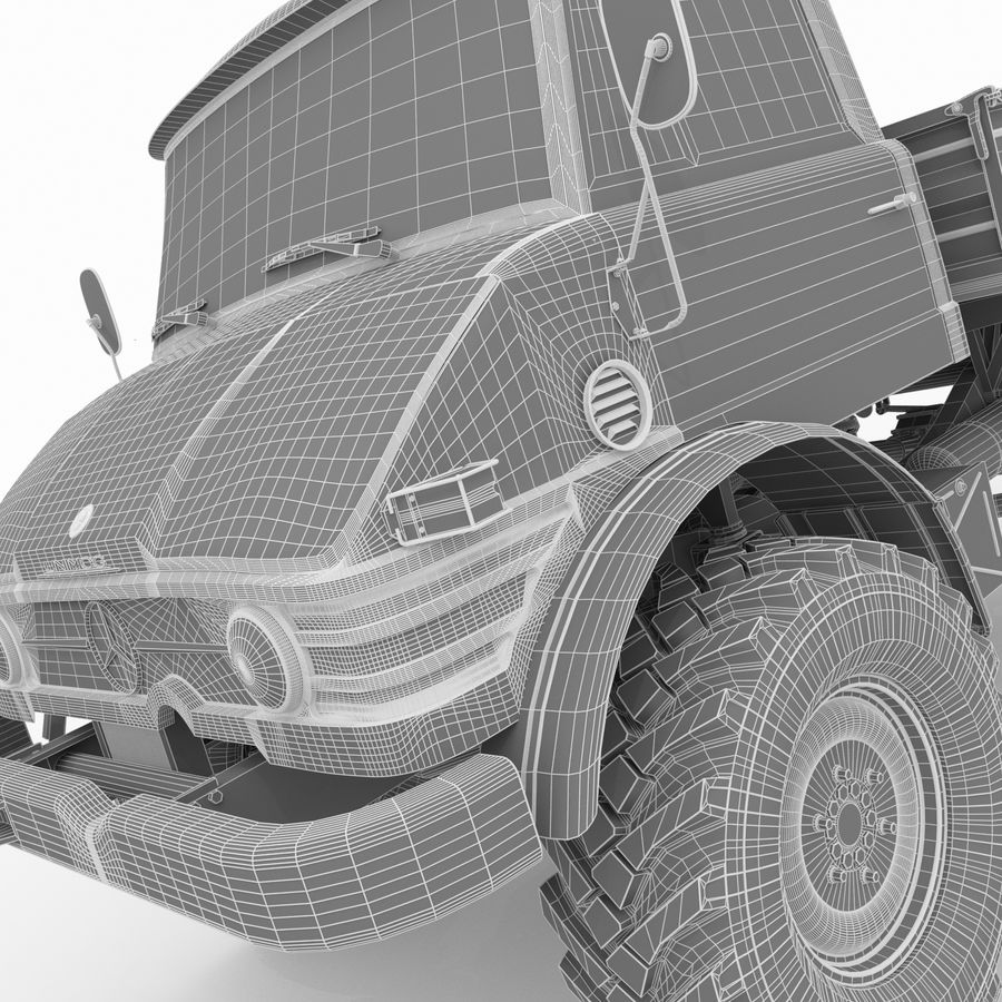 Unimog royalty-free 3d model - Preview no. 25