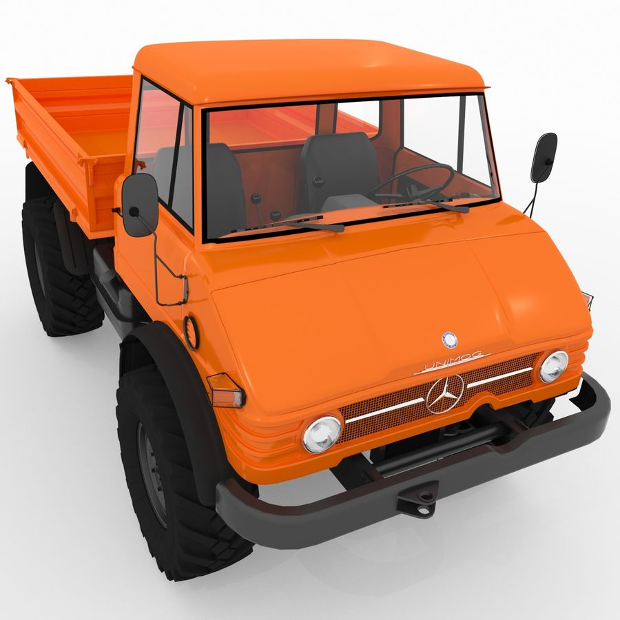 Unimog royalty-free 3d model - Preview no. 8