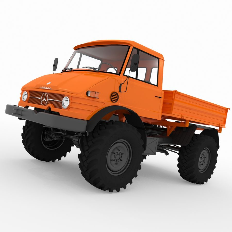 Unimog royalty-free 3d model - Preview no. 1
