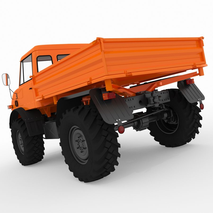 Unimog royalty-free 3d model - Preview no. 4