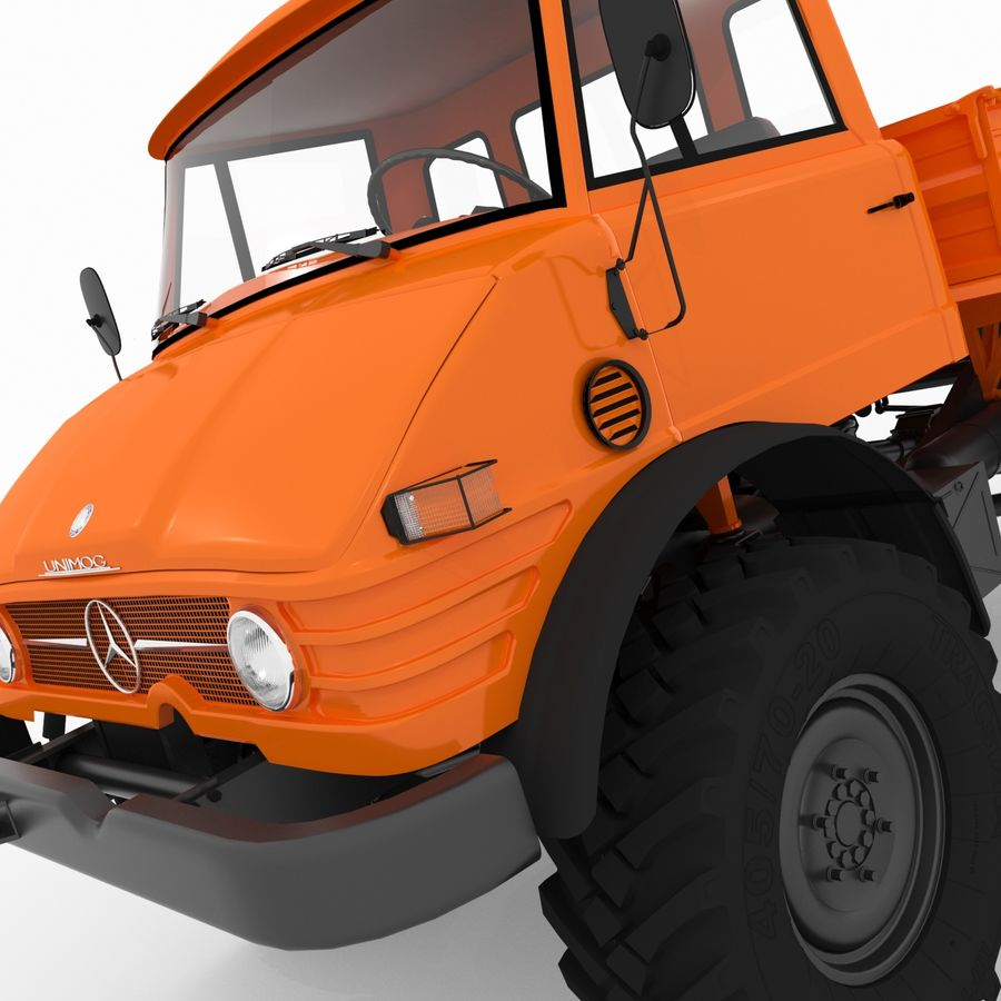 Unimog royalty-free 3d model - Preview no. 10