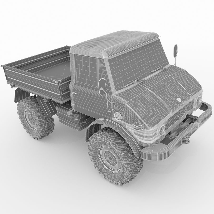 Unimog royalty-free 3d model - Preview no. 22