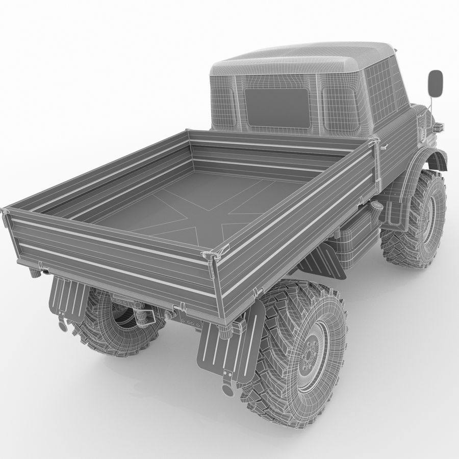 Unimog royalty-free 3d model - Preview no. 21