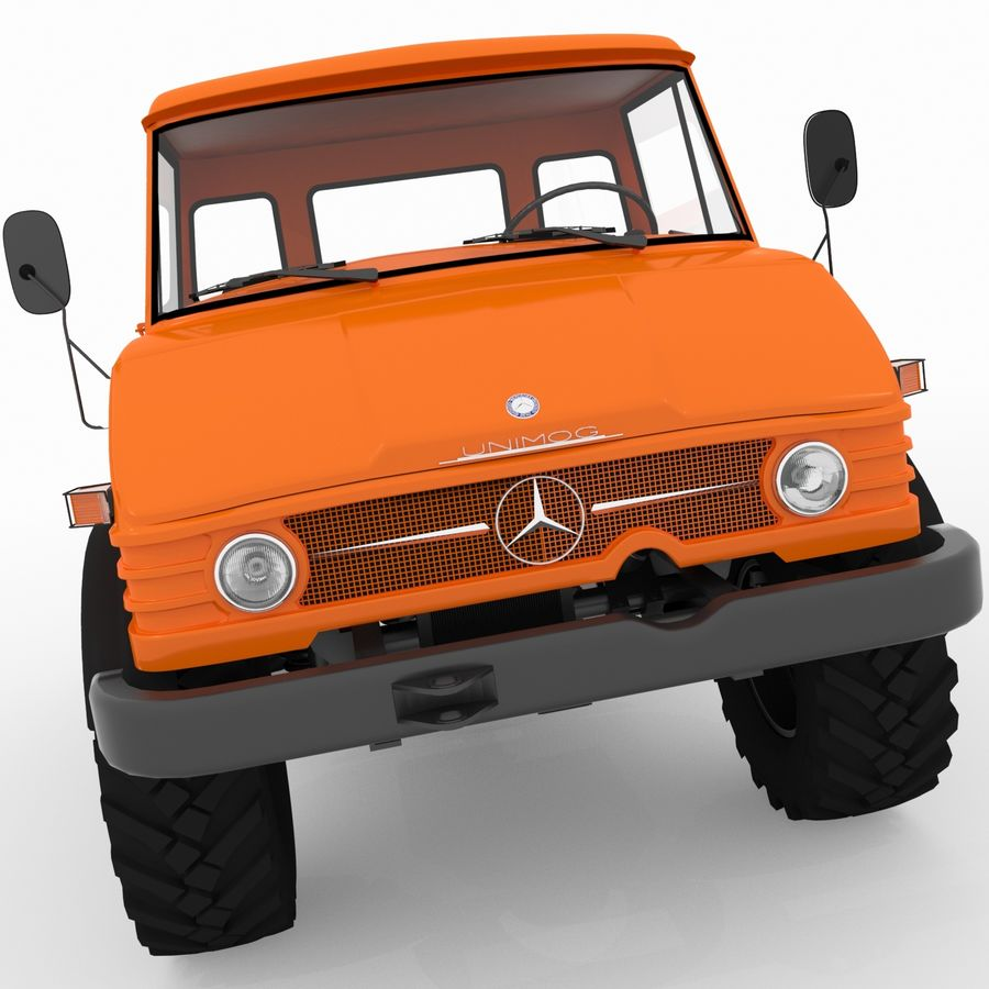 Unimog royalty-free 3d model - Preview no. 9