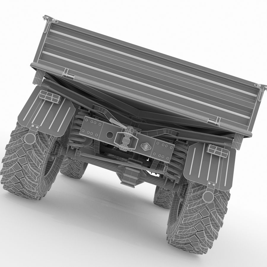 Unimog royalty-free 3d model - Preview no. 20