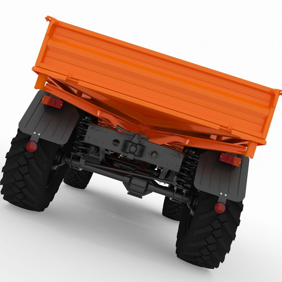 Unimog royalty-free 3d model - Preview no. 5