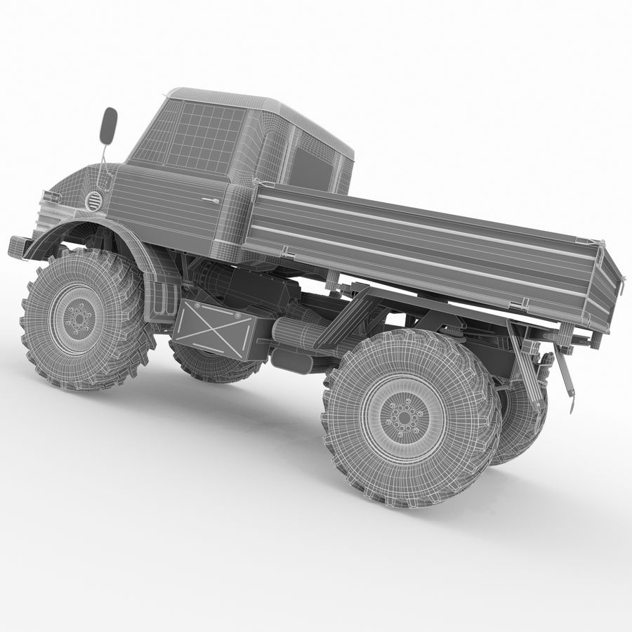 Unimog royalty-free 3d model - Preview no. 18