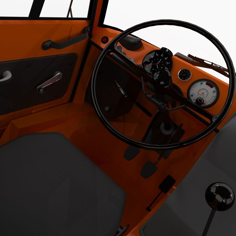 Unimog royalty-free 3d model - Preview no. 14