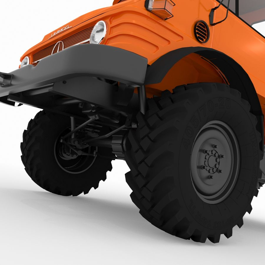 Unimog royalty-free 3d model - Preview no. 15