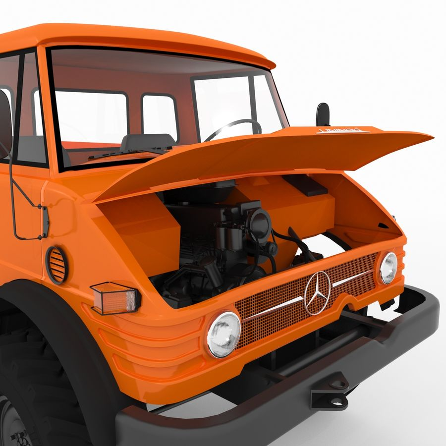 Unimog royalty-free 3d model - Preview no. 11
