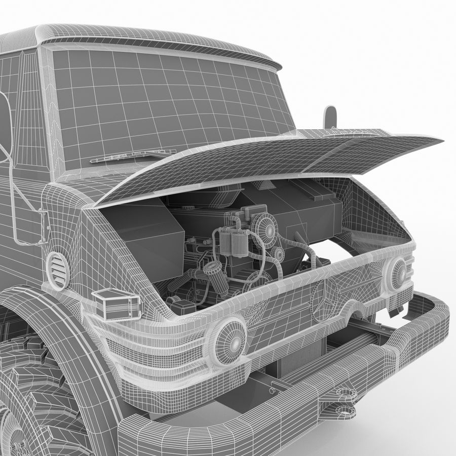 Unimog royalty-free 3d model - Preview no. 26