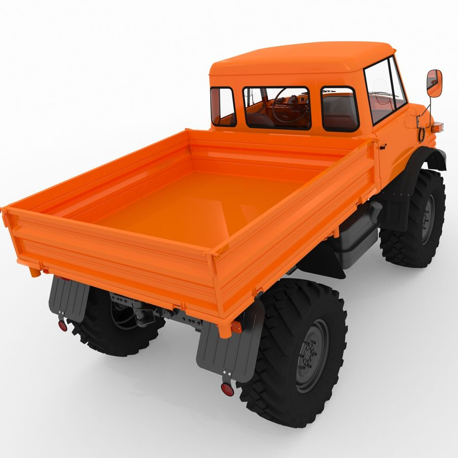 Unimog royalty-free 3d model - Preview no. 6