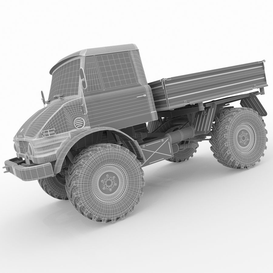 Unimog royalty-free 3d model - Preview no. 17