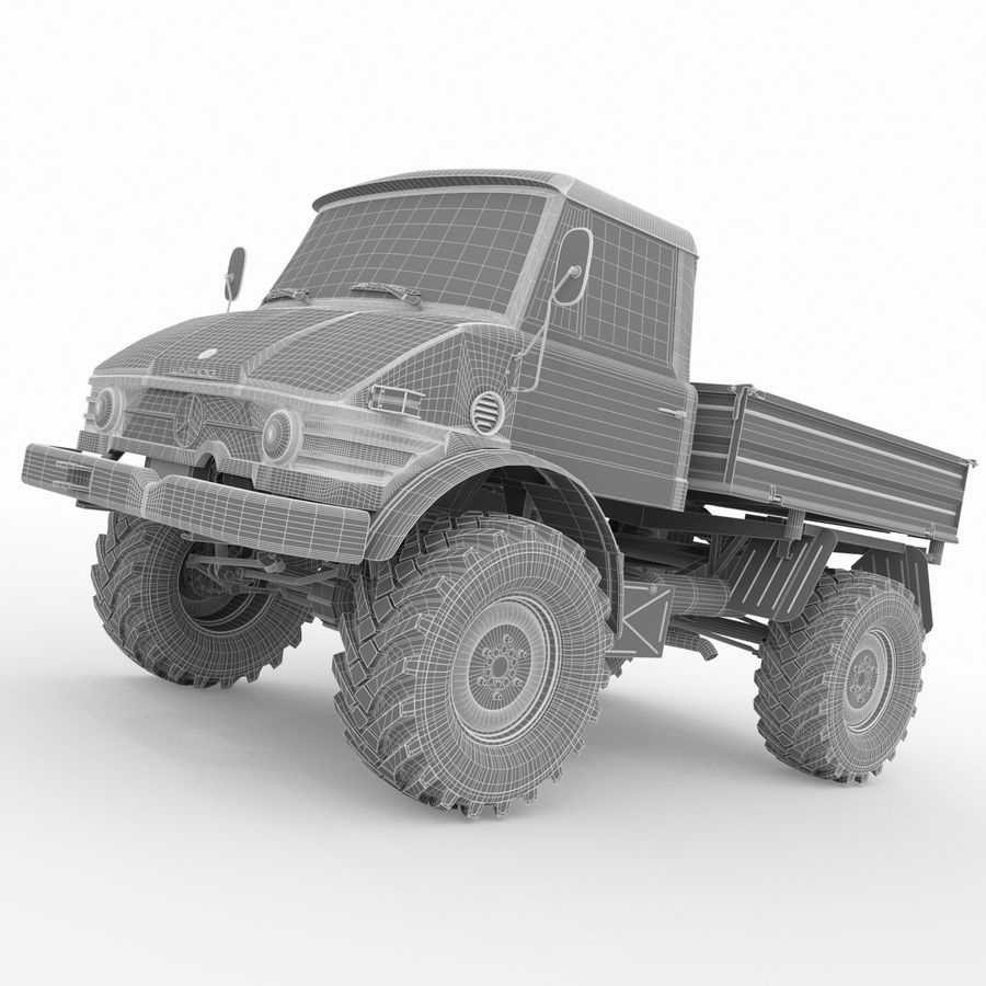 Unimog royalty-free 3d model - Preview no. 16