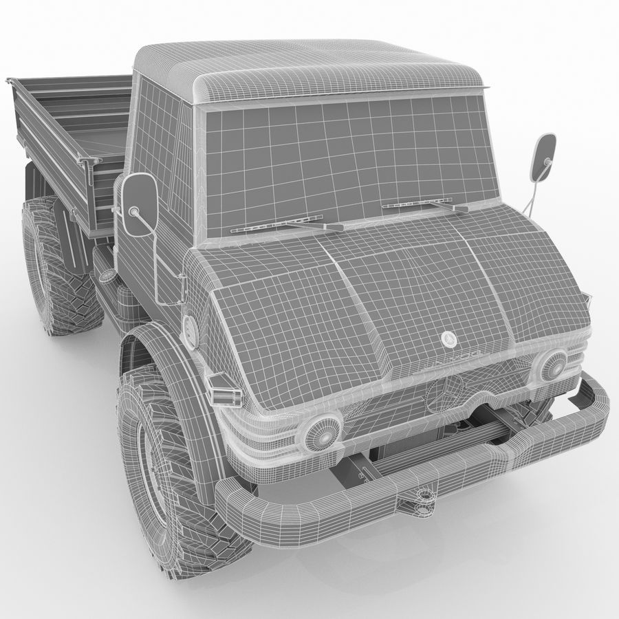 Unimog royalty-free 3d model - Preview no. 23