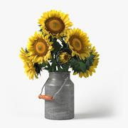 Rustic Sunflower Bouquet 3d model