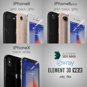 Apple_iPhone 8_8Plus_X 3d model