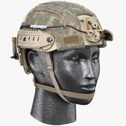 战斗头盔弹道 3d model