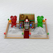 Christmas Gingerbread House 3d model