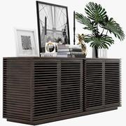 餐具柜线Credenza 3d model