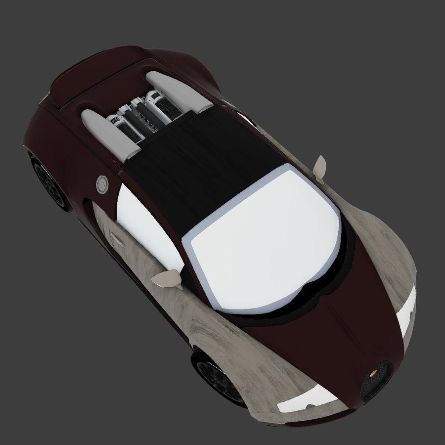 Bugatti Veyron royalty-free 3d model - Preview no. 3