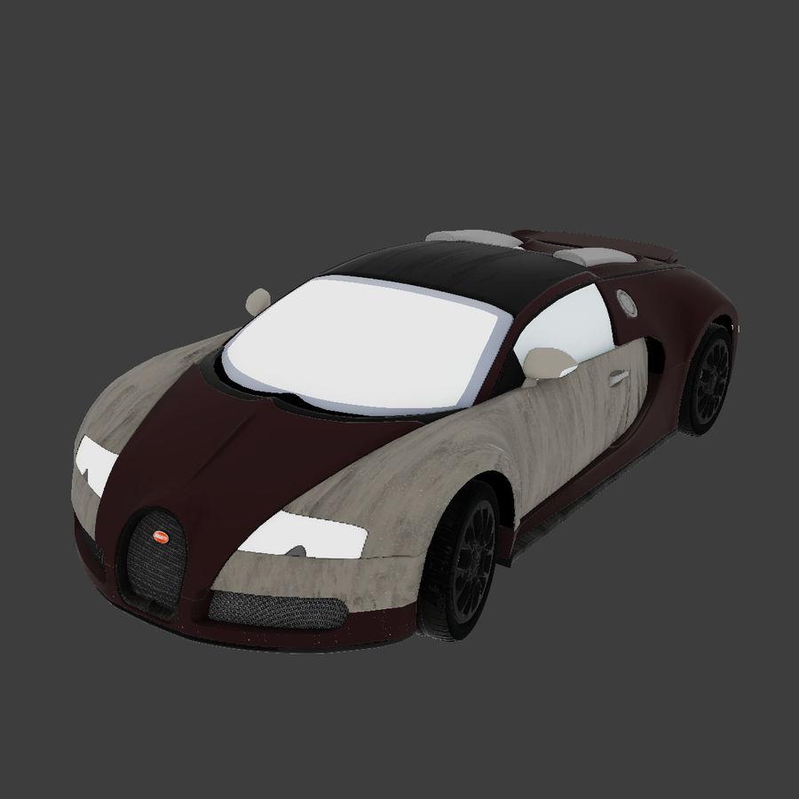 Bugatti Veyron royalty-free 3d model - Preview no. 4